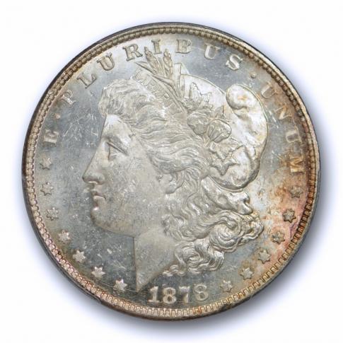 1878 8TF $1 Morgan Dollar PCGS MS 62 Uncirculated Slightly PL Flashy Coin !