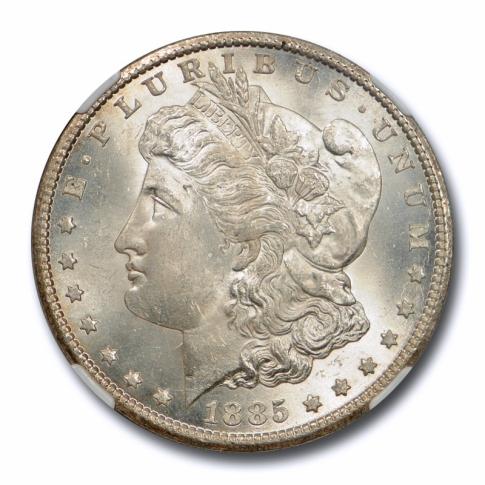1885 CC $1 Morgan Dollar NGC MS 63 Uncirculated Carson City Mint Nice !