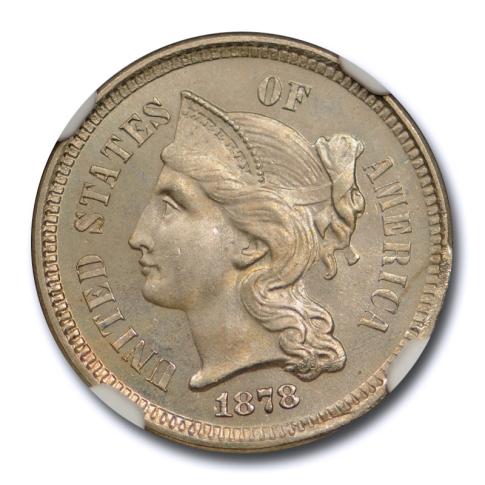 1878 3CN Three Cent Nickel Piece NGC PF 65 PR Proof Key Date Mint Error ?