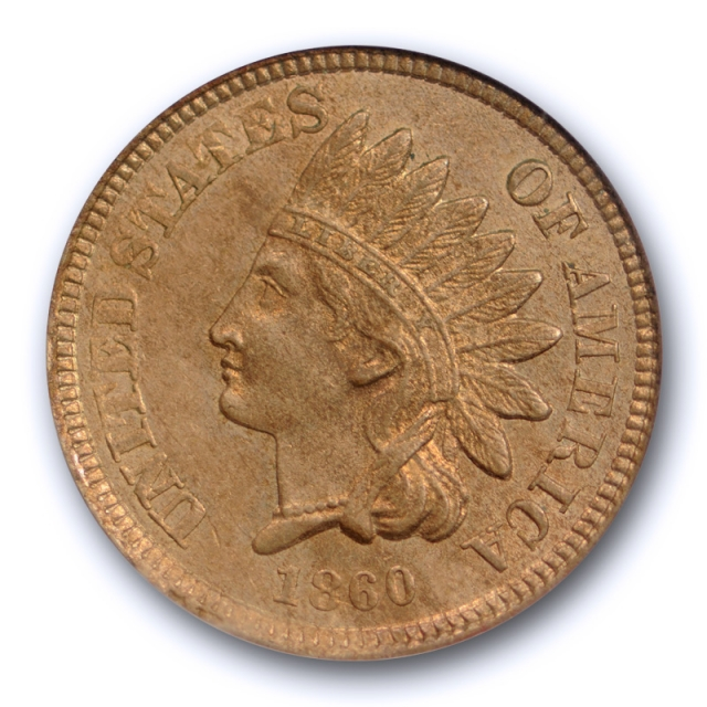 1860 1C Indian Head Cent PCGS MS 63 Uncirculated Copper Nickel US Type Coin Original