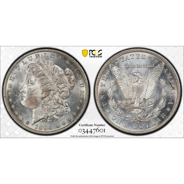 1894 S $1 Morgan Dollar PCGS MS 63 Uncirculated Mint State Looks Proof Like Tough !