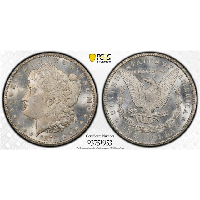 1879 CC $1 Morgan Dollar PCGS MS 64 Unciculated CAC Approved Carson City !