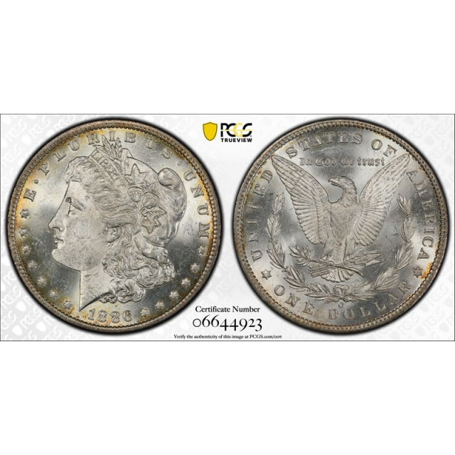 1886 O $1 VAM 1A Morgan Dollar PCGS MS 62 Uncirculated Clashed E Top 100
