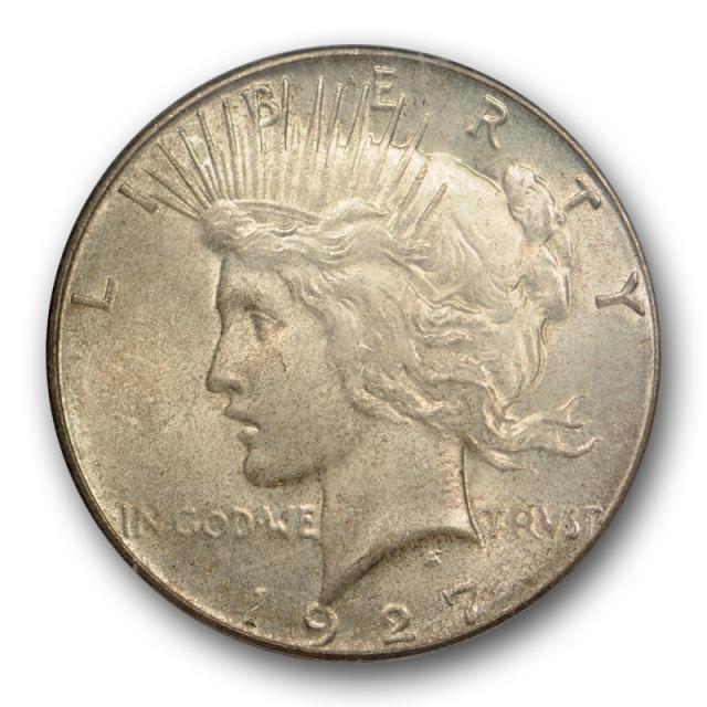 1927 $1 Peace Dollar PCGS MS 64 Uncirculated Better Date Original Toned