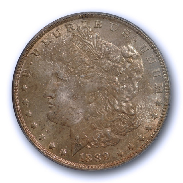 1889 O $1 Morgan Dollar PCGS MS 63 Uncirculated New Orleans Mint Date Toned Cert#1314