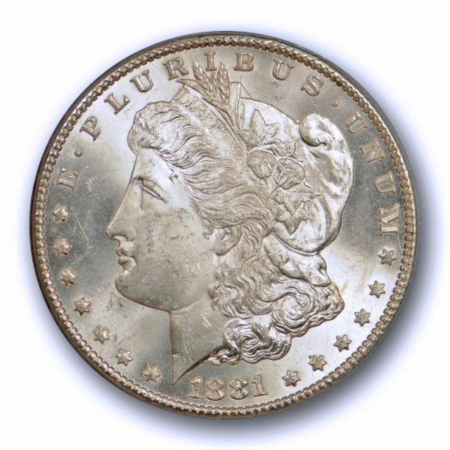1881 CC $1 Morgan Dollar PCGS MS 64 Uncirculated Carson City Mint Cert#9734
