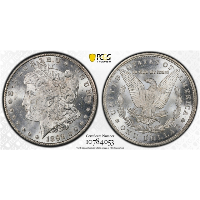 1892 CC $1 Morgan Dollar PCGS MS 62 Uncirculated CAC Approved Carson City Mint