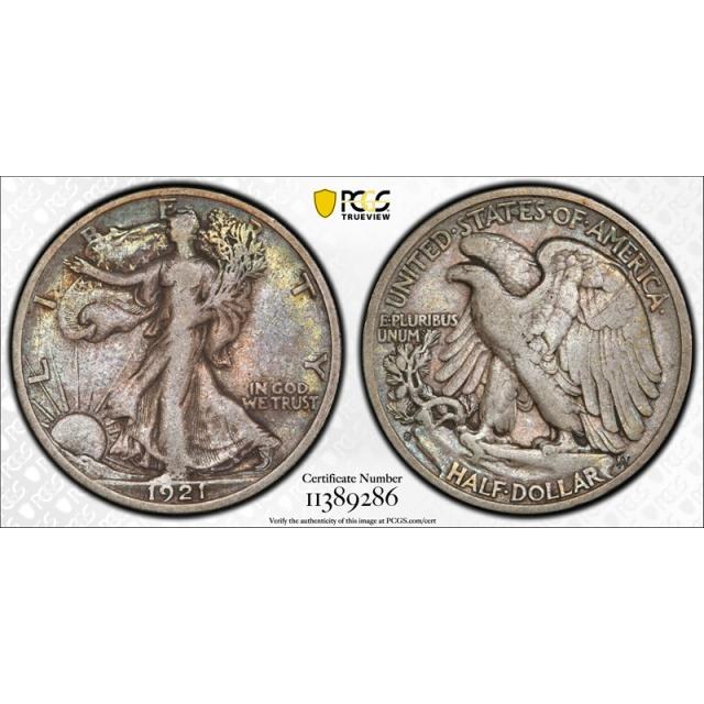 1921 S 50C Walking Liberty Half Dollar PCGS VF 25 Very Fine to Extra Fine Nice !