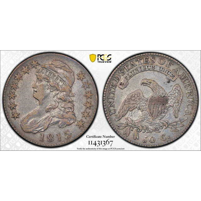 1815/2 50C Capped Bust Half Dollar PCGS VF 30 Very Fine to Extra Fine 1815