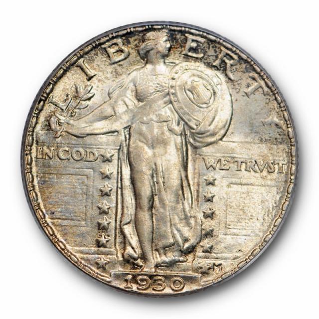 1930 25C Standing Liberty Quarter PCGS MS 63 FH Full Head Uncirculated Cert#8213