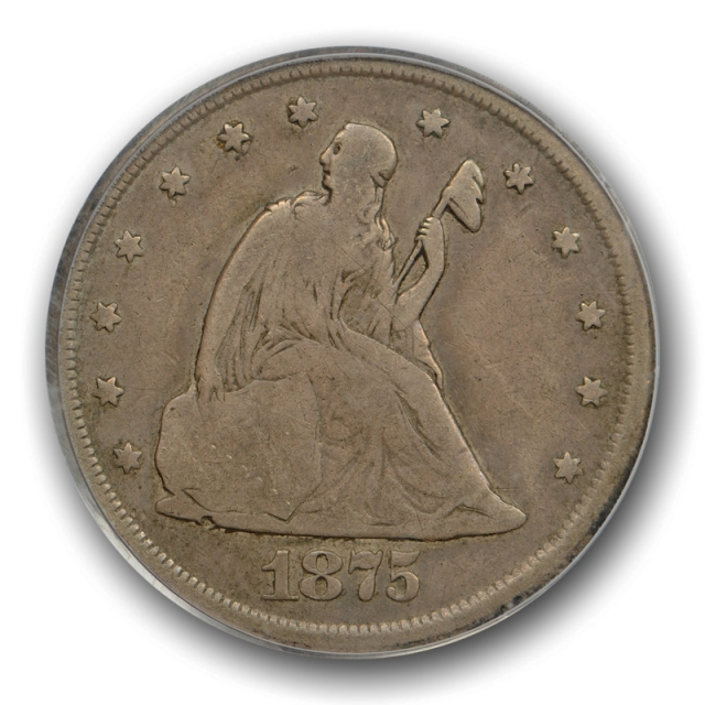 1875 CC 20C Twenty Cent Piece PCGS F 15 Fine to Very Fine Carson City Mint