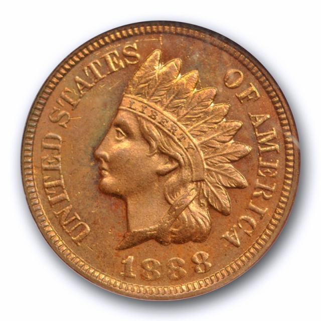 1888 1C Indian Head Cent NGC MS 65 RB Uncirculated Proof Like PL The Only One !