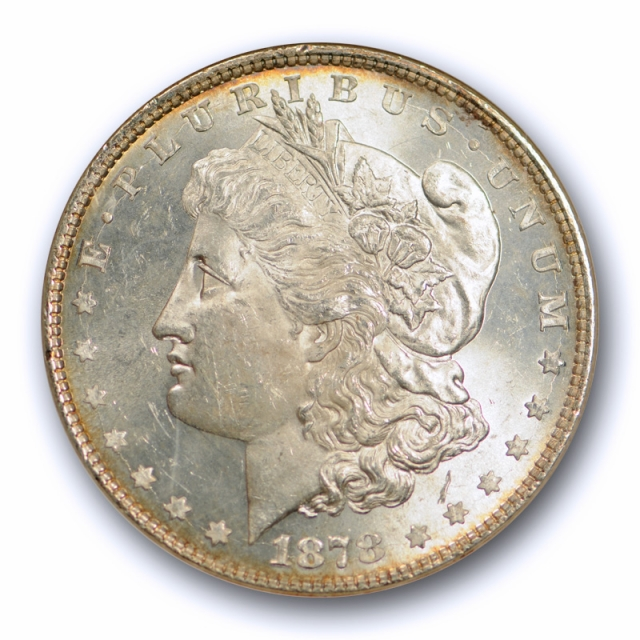 1878 8TF $1 Morgan Dollar ANACS MS 63 Uncirculated Lustrous Beauty Old Holder !