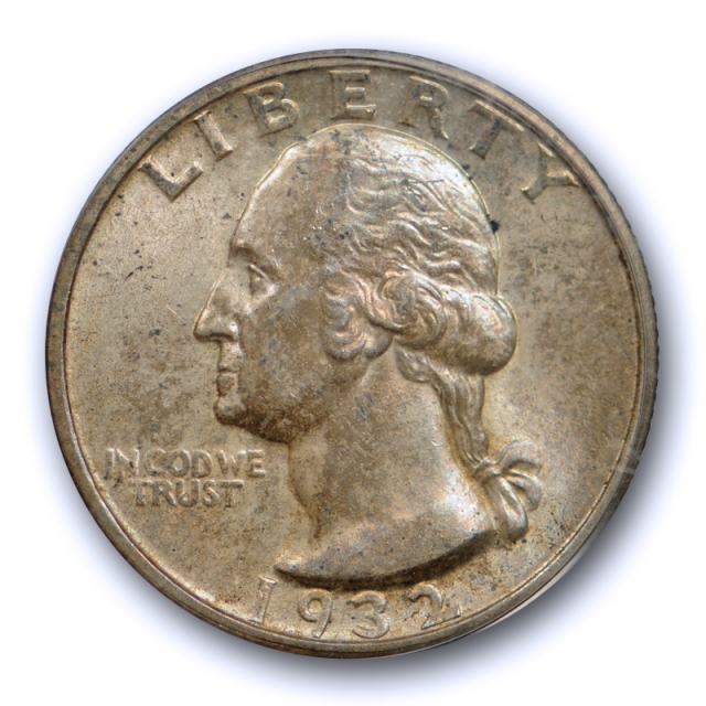 1932 S 25C Washington Quarter PCGS MS 63 Uncirculated San Francisco Mint Cert#9403
