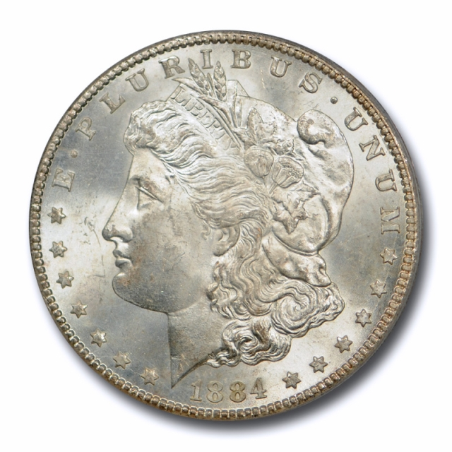 1884 CC $1 Morgan Dollar PCGS MS 65 Uncirculated Carson City Mint Original