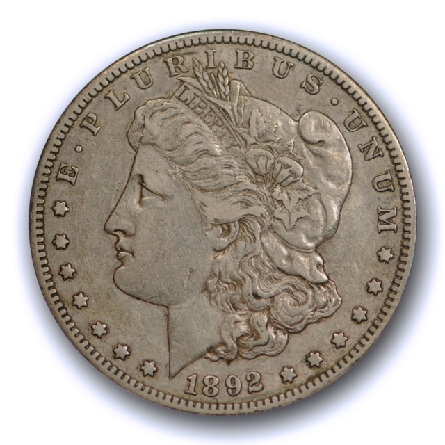 1892 S $1 Morgan Dollar ANACS EF 45 Extra Fine to About Uncirculated Original