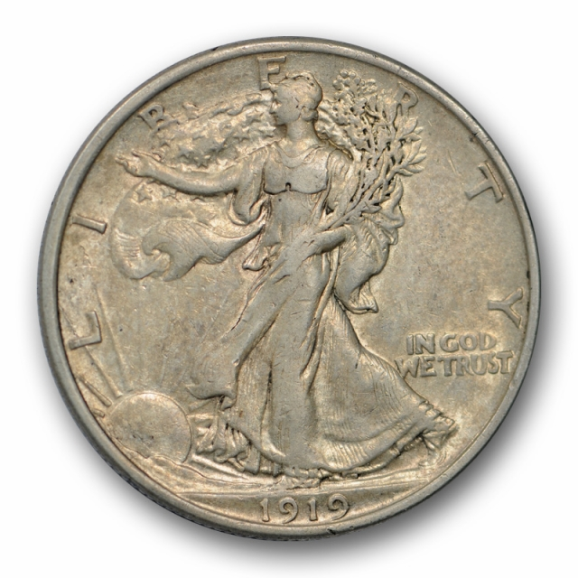 1919 50C Walking Liberty Half Dollar About Uncirculated to Mint State Tough Date