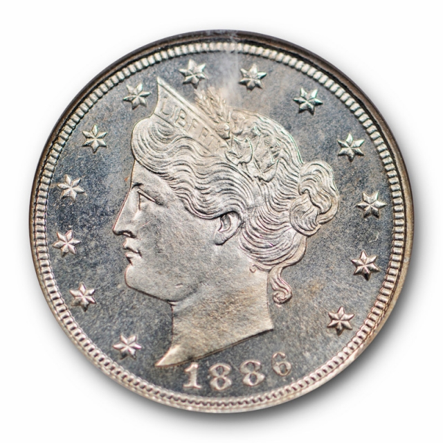 1886 Liberty Head Nickel NGC PF 66 Proof Key Date CAC Approved Looks CAM