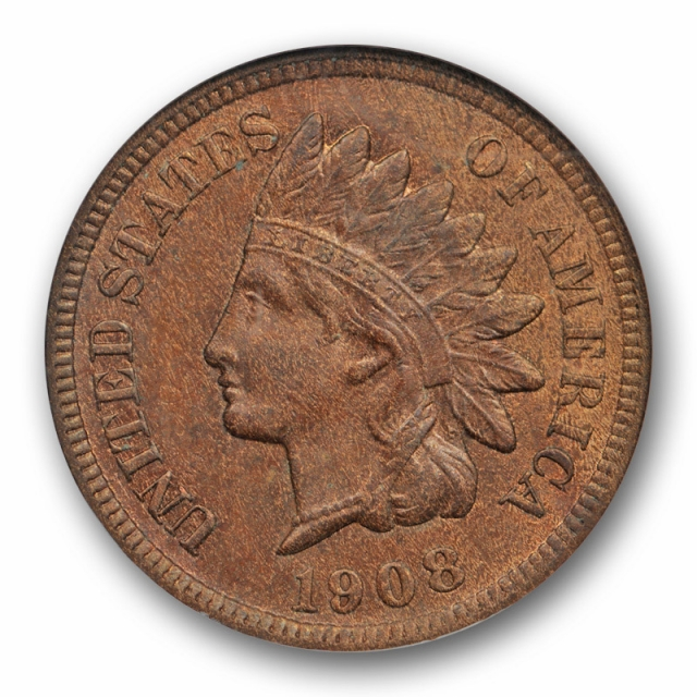 1908 S 1C Indian Head Cent NGC MS 64 BN Uncirculated Key Date Mint State