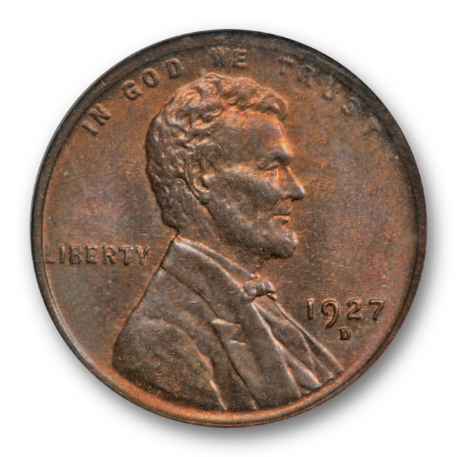 1927 D 1C Lincoln Wheat Cent NGC MS 65 BN Uncirculated Brown CAC Approved Nice !