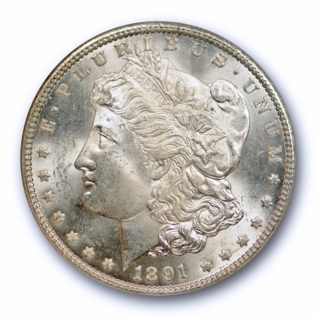 1891 CC $1 Morgan Dollar NGC MS 64 Uncirculated CAC Approved Carson City Mint