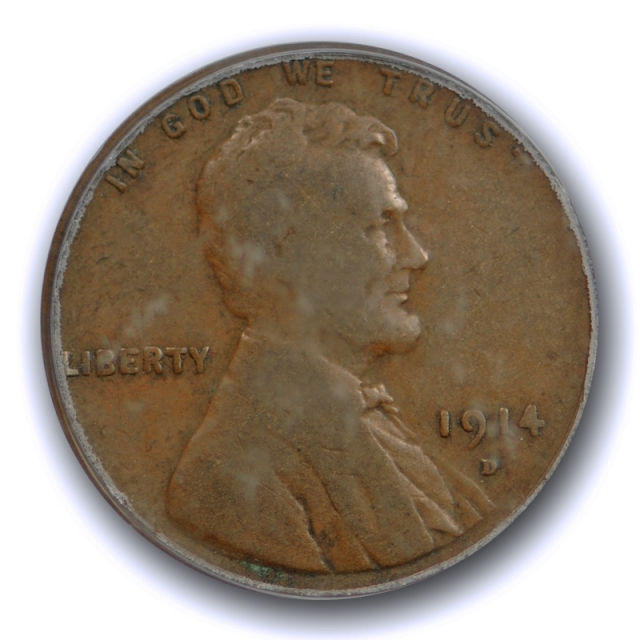1914 D 1C Lincoln Wheat Cent PCGS VG 10 Very Good to Fine Denver Mint Key Date