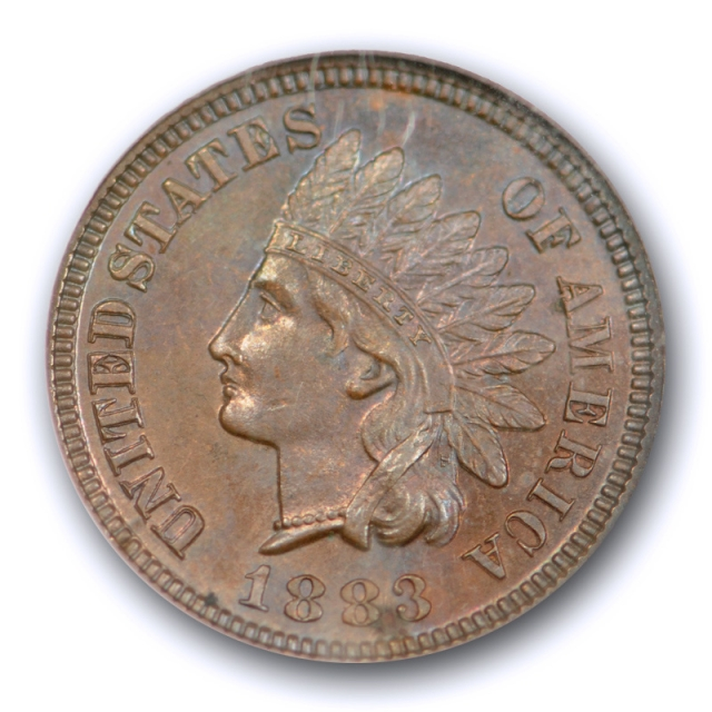 1883 1C Proof Indian Head Cent NGC PF 64 BN PR Brown Low Mintage Proof US Type Coin