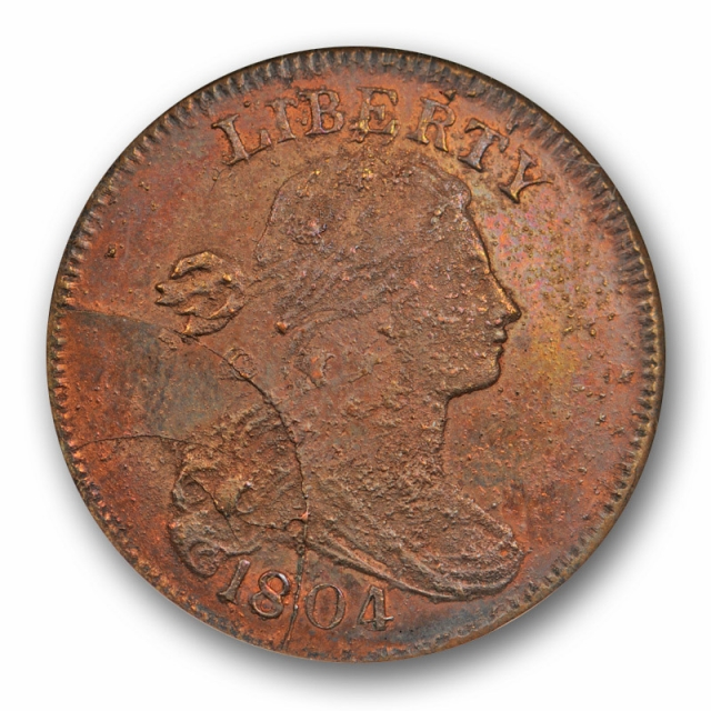1804 1c Restrike Draped Bust Large Cent NGC MS 62 RB Uncirculated Red Brown OH