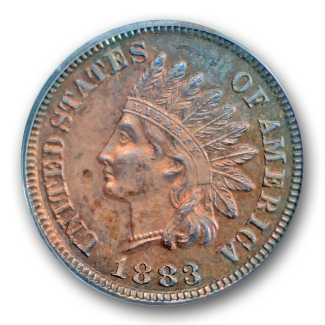 1883 1C Proof Indian Head Cent PCGS PR 64 RB Proof Red Brown Low Mintage !