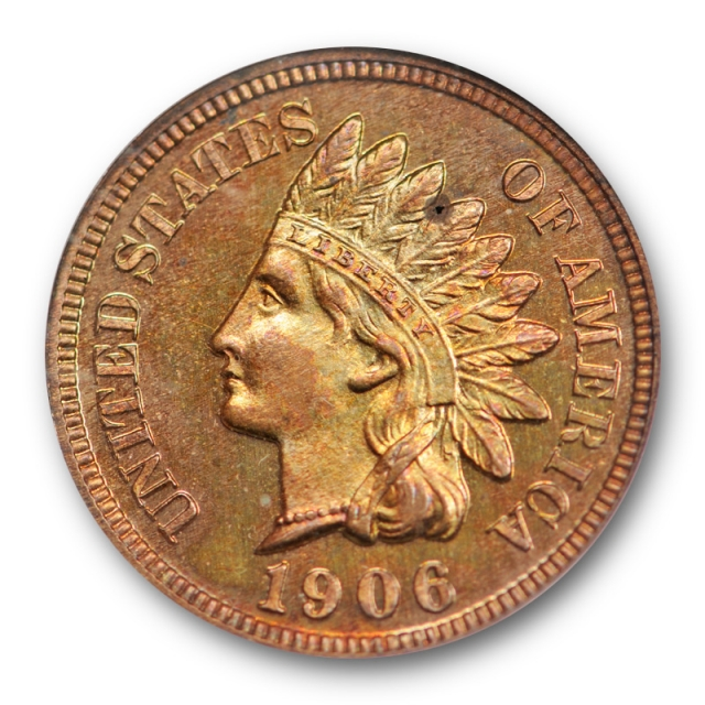 1906 1c Proof Indian Head Cent NGC PF 64 RB PR Red Brown Old Fatty Holder !