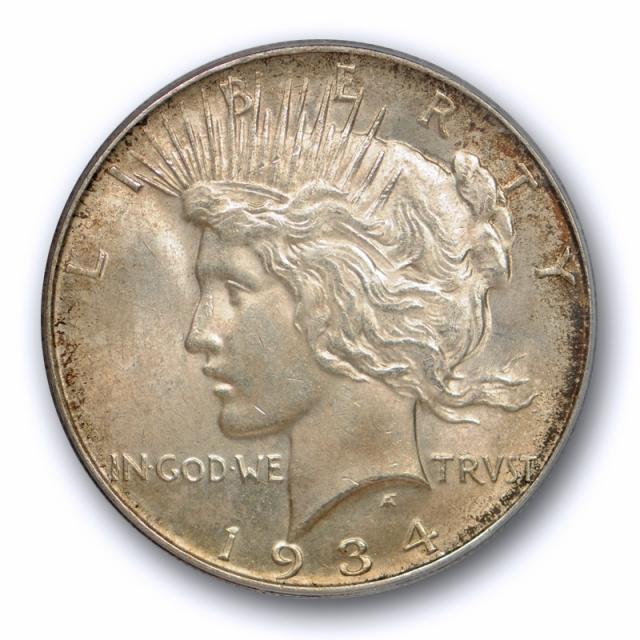 1934 D $1 Peace Dollar PCGS MS 63 Uncirculated Denver Mint Better Date Cert#0150
