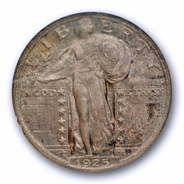 1925 25c Standing Liberty Quarter NGC MS 65 Uncirculated Original Toned