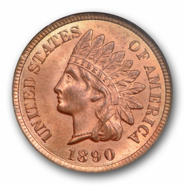 1890 1C Indian Head Cent NGC MS 64 RB Uncirculated Mostly Red RD !