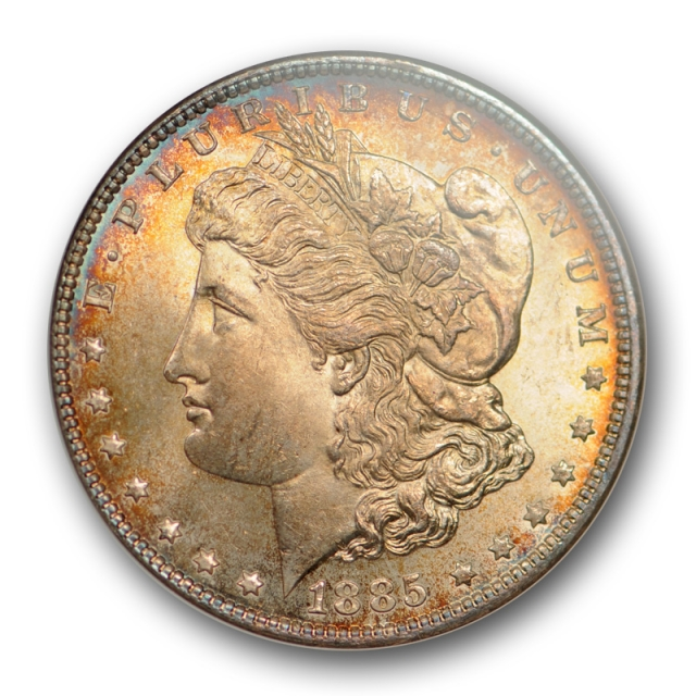 1885 $1 Morgan Dollar NGC MS 64 Uncirculated CAC Approved Toned Beauty !
