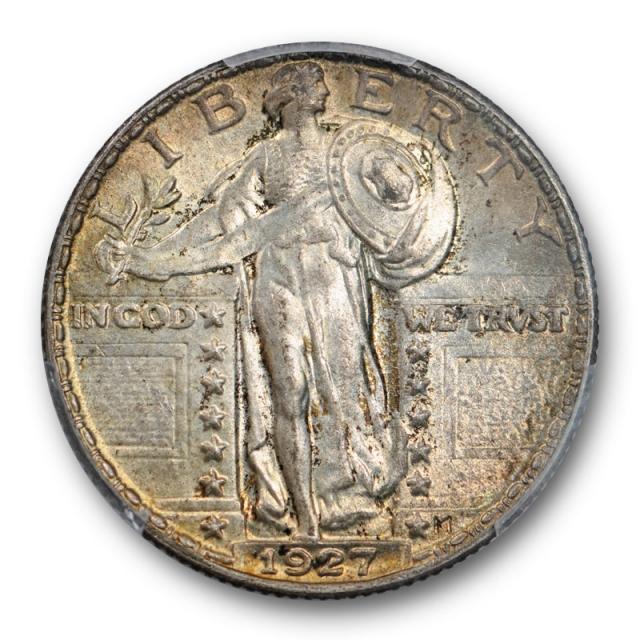 1927 25C Standing Liberty Quarter PCGS MS 64 Uncirculated Toned Crusty Cert#0568
