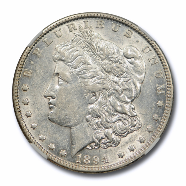 1894 O $1 Morgan Dollar NGC AU 55 About Uncirculated Site White Approved !