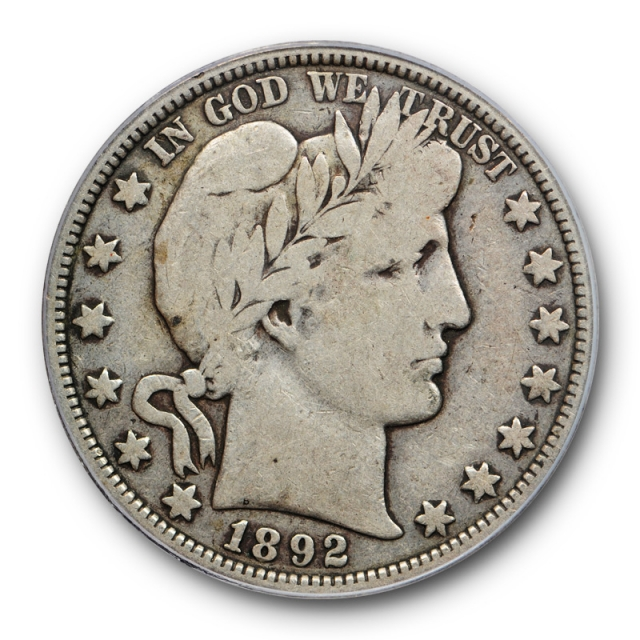 1892 O 50C Barber Half Dollar PCGS VG 8 Very Good Key Date CAC Approved
