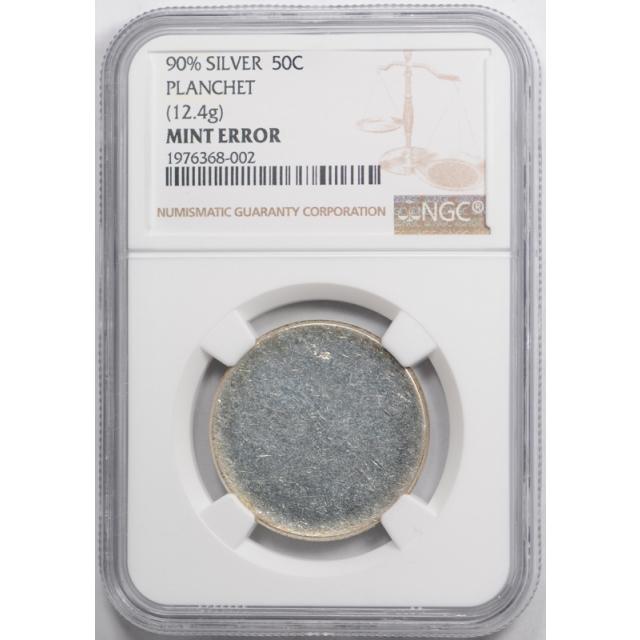 1964 50C ? Kennedy Half Dollar Blank Planchet NGC 90% Silver 12.4 G Mint Error