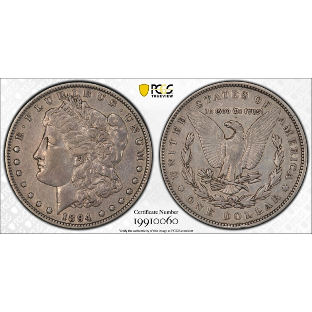 1894 $1 Morgan Dollar PCGS XF 40 Extra Fine Key Date CAC Approved Tough !