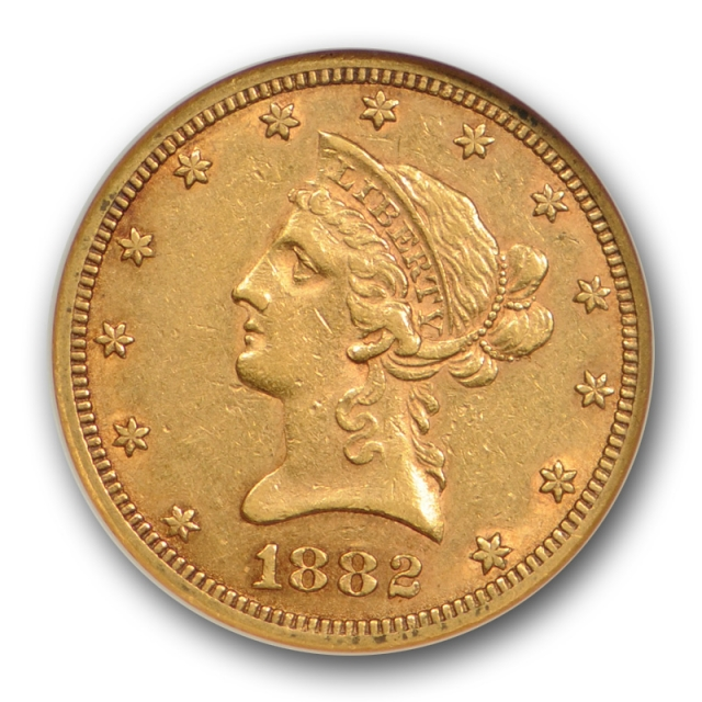 1882 CC $10 Liberty Head Eagle NGC AU 53 About Uncirculated Carson City CAC Approved