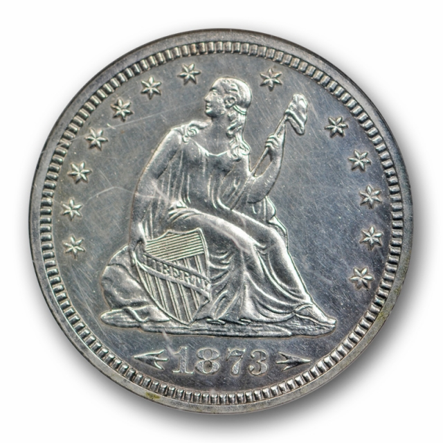 1873 Arrows Seated Liberty Quarter NGC PF 62 Proof Low Mintage Date