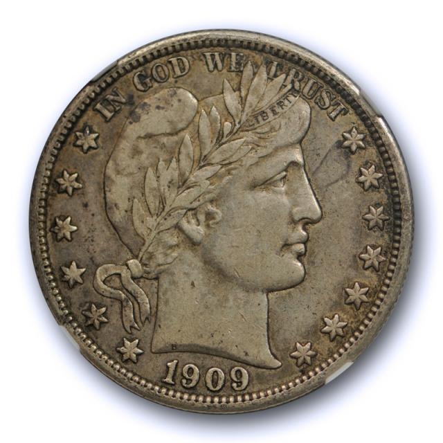 1909 50c Barber Half Dollar NGC VF 35 Very Fine Looks Extra Fine ! Nice