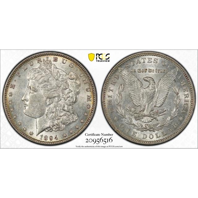 1894 $1 Morgan Dollar PCGS AU 55 About Uncirculated Key Date Tough Coin Cert#6516