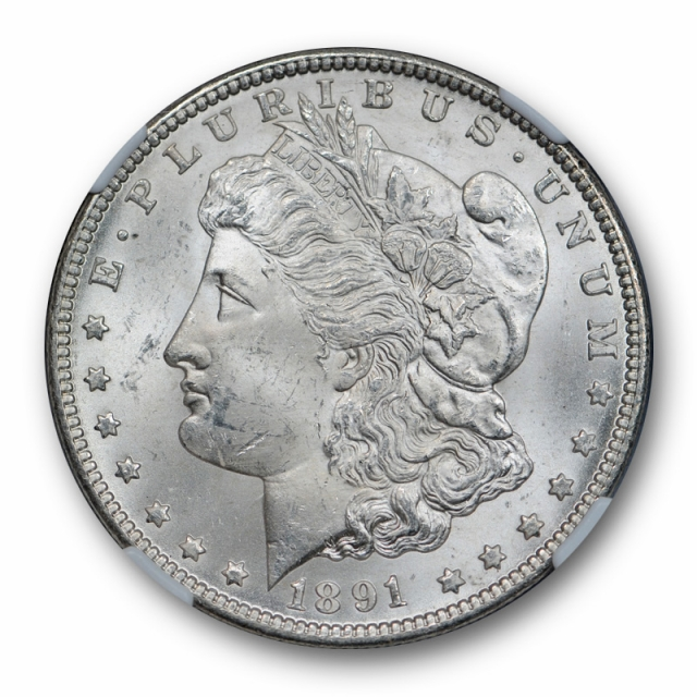 1891 CC $1 Morgan Dollar NGC MS 63 Uncirculated Carson City Mint White Nice !