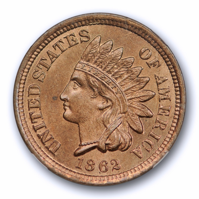 1862 1c Indian Head Cent NGC MS 65 Uncirculated Copper Nickel Exceptional Coin !