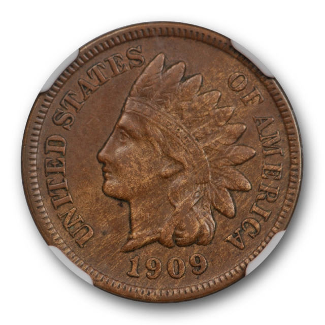 1909 S 1C Indian Head Cent NGC AU 53 BN About Unciculated Key Date Original