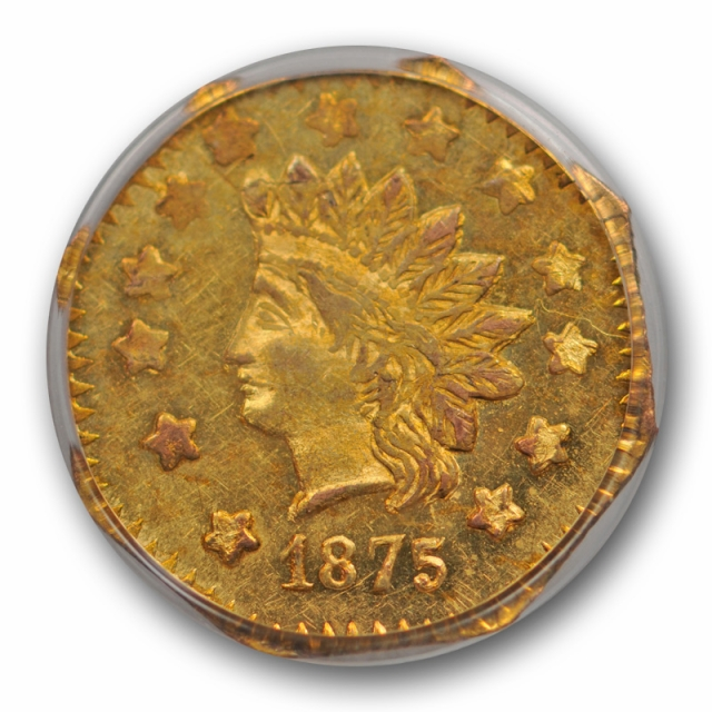 1875 $1 BG-1127 California Fractional Gold PCGS AU 58 About Uncirculated PL ?