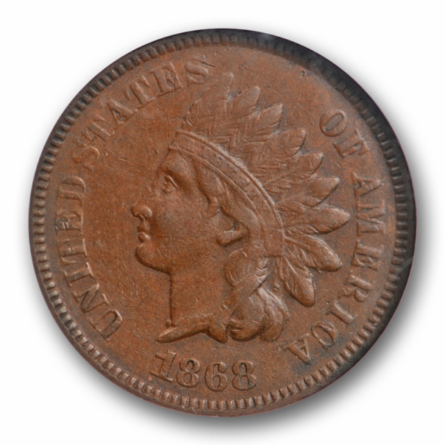 1868 1C Indian Head Cent NGC AU 50 About Uncirculated Better Date US Coin