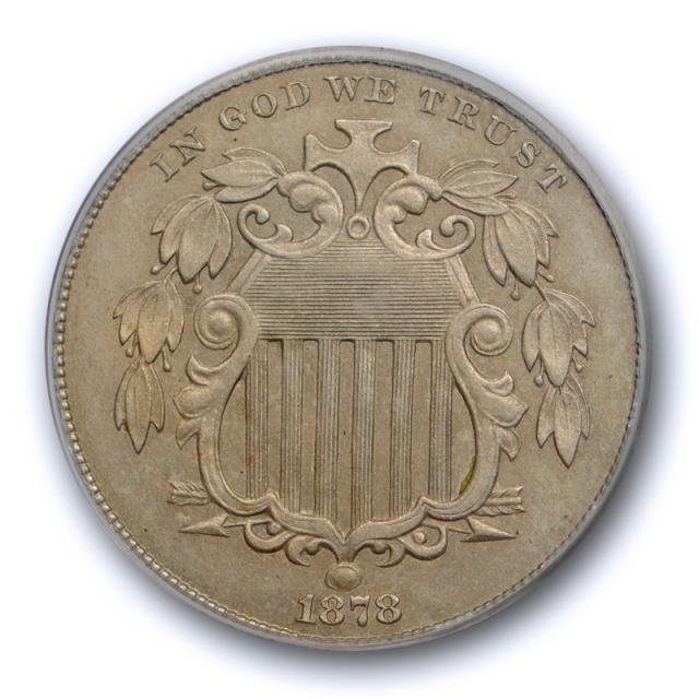 1878 5C Shield Nickel PCGS PR 58 Proof Issue Key Date PF Low Mintage Tough !