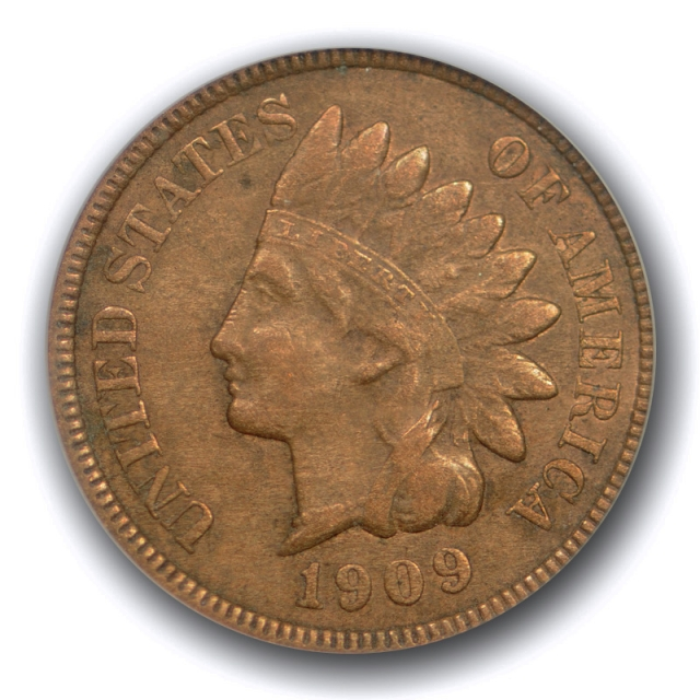 1909 S 1c Indian Head Cent PCGS VF 35 Very Fine to Extra Fine Key Date Cert#2322